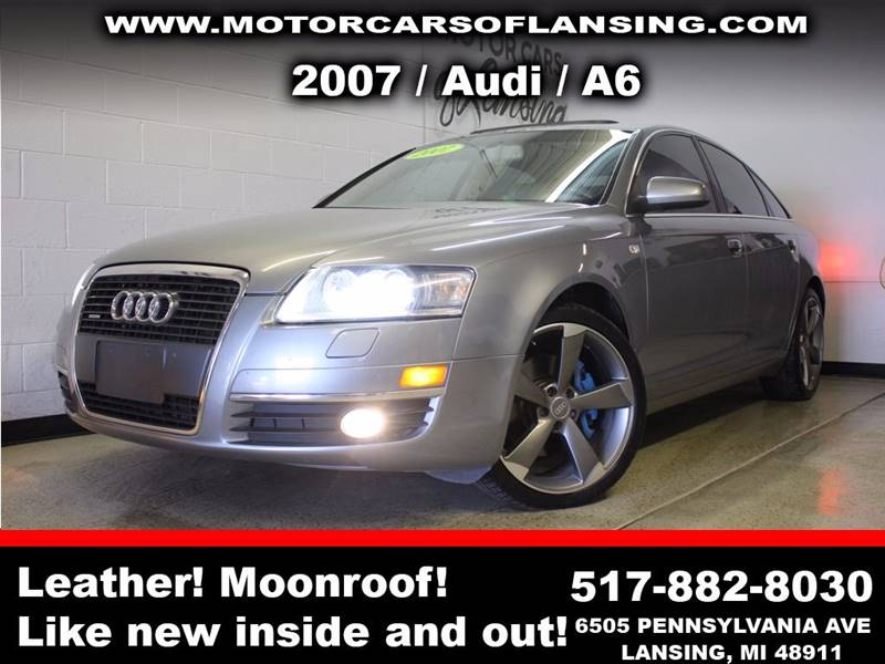2007 AUDI A6 32 QUATTRO AWD 4DR SEDAN gray sunroof leather wow this vehicle is loaded   all cu