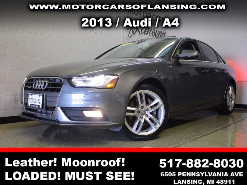 2013 AUDI A4 20T QUATTRO PREMIUM AWD 4DR SED gray awdpremium plussunroof leather wow this ve