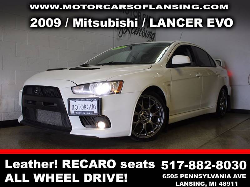 2009 MITSUBISHI LANCER EVOLUTION white sunroof leather wow this vehicle is loaded   all custome