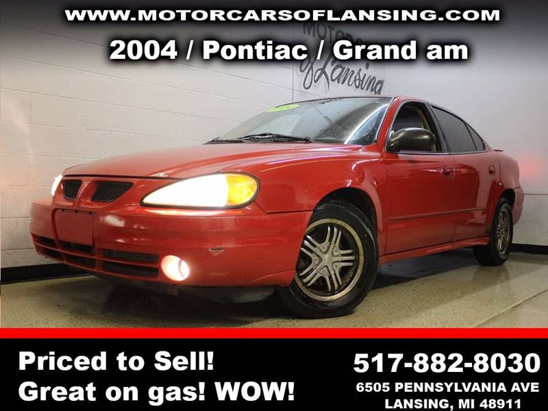 2004 PONTIAC GRAND AM SE1 4DR SEDAN red guaranteed credit approval  all customers are welcome to p