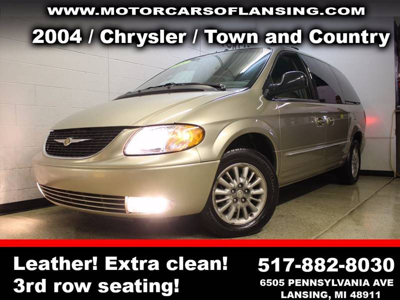 2004 CHRYSLER TOWN AND COUNTRY TOURING 4DR EXTENDED MINI VAN gold xtra cleansenior citezen trade