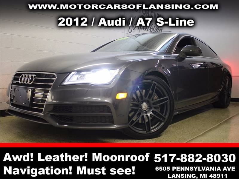 2012 AUDI A7 30T QUATTRO PRESTIGE AWD 4DR SE gray sunroof leather wow this vehicle is loaded