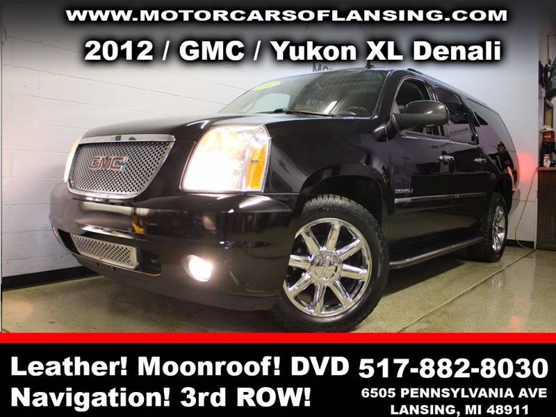 2012 GMC YUKON XL DENALI AWD XL 4DR SUV black sunroof leather wow this vehicle is loaded   all