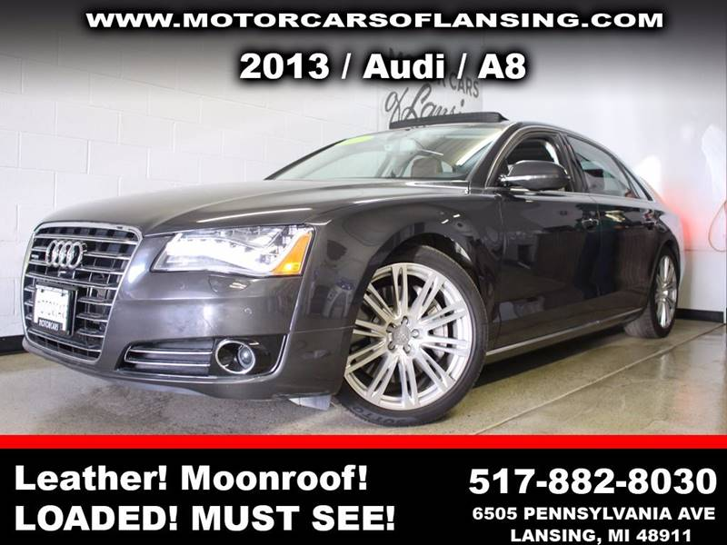 2013 AUDI A8 L 40T QUATTRO AWD 4DR SEDAN black sunroof leather wow this vehicle is loaded   al