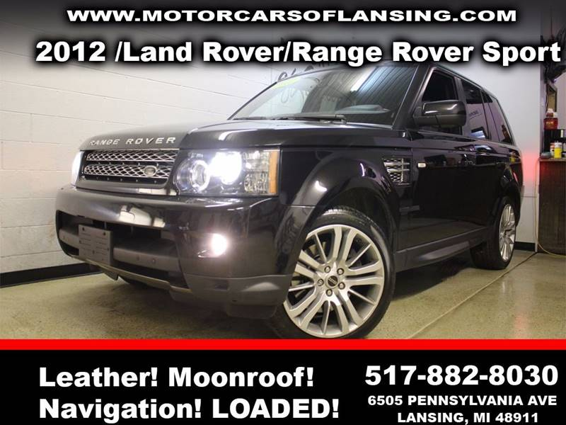2012 LAND ROVER RANGE ROVER SPORT HSE LUX 4X4 4DR SUV black sunroof leather wow this vehicle is