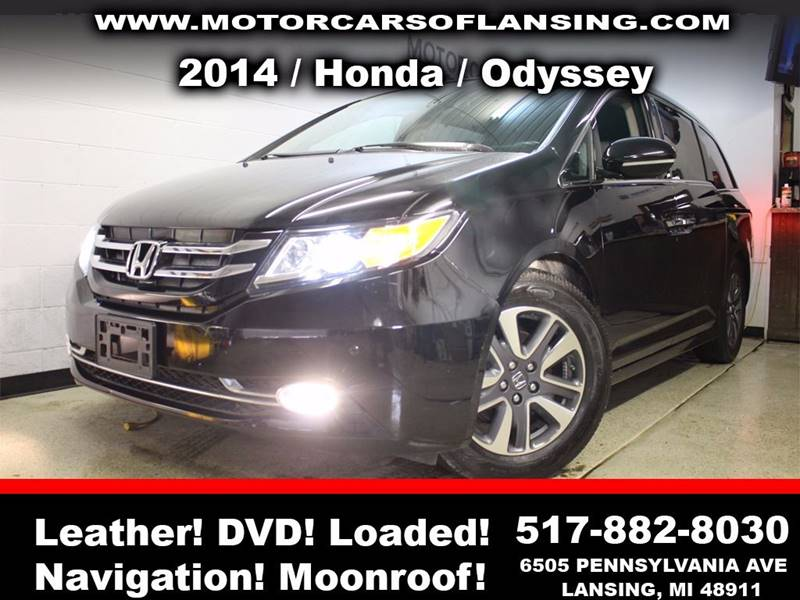 2014 HONDA ODYSSEY TOURING ELITE 4DR MINI VAN black sunroof leather wow this vehicle is loaded