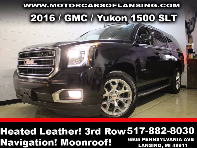 2016 GMC YUKON XL SLT 1500 4X4 4DR SUV black sunroof leather wow this vehicle is loaded   all c