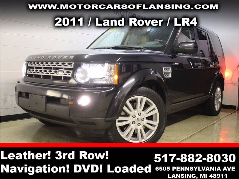 2011 LAND ROVER LR4 BASE 4X4 4DR SUV black sunroof leather wow this vehicle is loaded   all cus