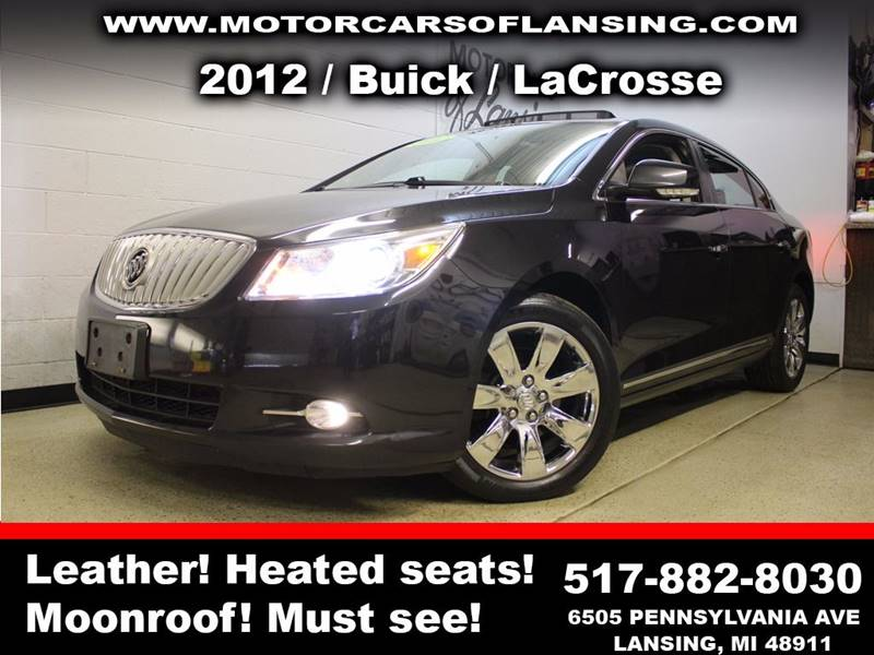 2012 BUICK LACROSSE TOURING 4DR SEDAN black sunroof leather wow this vehicle is loaded   all cu