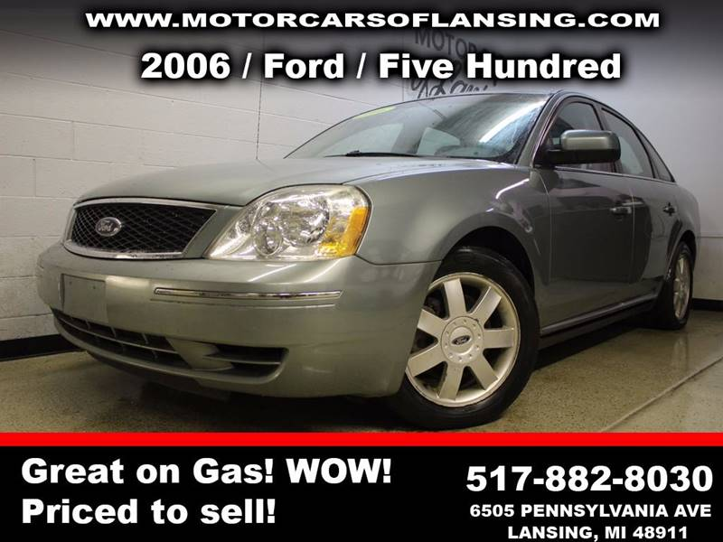 2006 FORD FIVE HUNDRED SE 4DR SEDAN pewter all customers are welcome to perform an inspection on o
