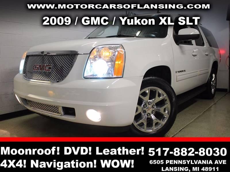 2009 GMC YUKON XL SLT 1500 4X4 4DR SUV W 4SA white sunroof leather wow this vehicle is loaded