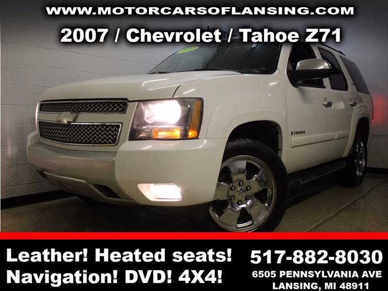 2007 CHEVROLET TAHOE LT 4DR SUV 4WD white sunroof leather wow this vehicle is loaded   room for