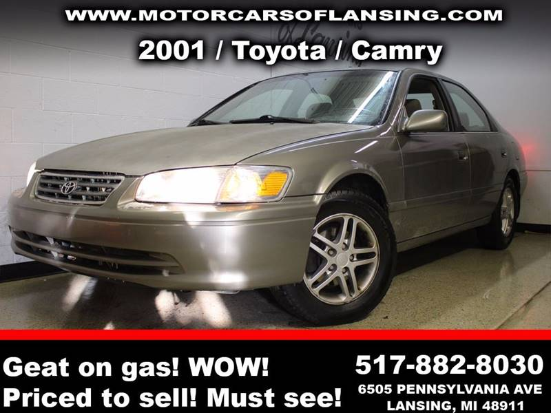 2001 TOYOTA CAMRY LE 4DR SEDAN tan all customers are welcome to perform an inspection on our vehi