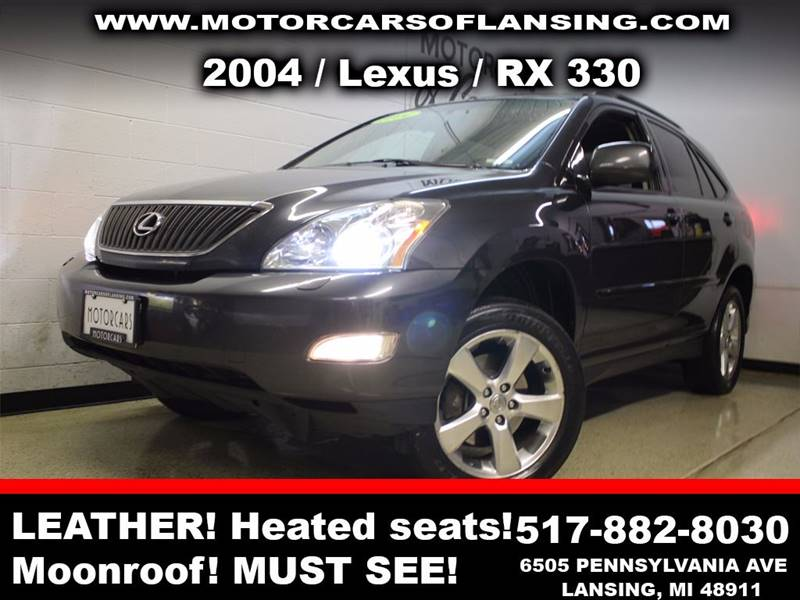 2004 LEXUS RX 330 BASE AWD 4DR SUV charcoal sunroof leather wow this vehicle is loaded   all c
