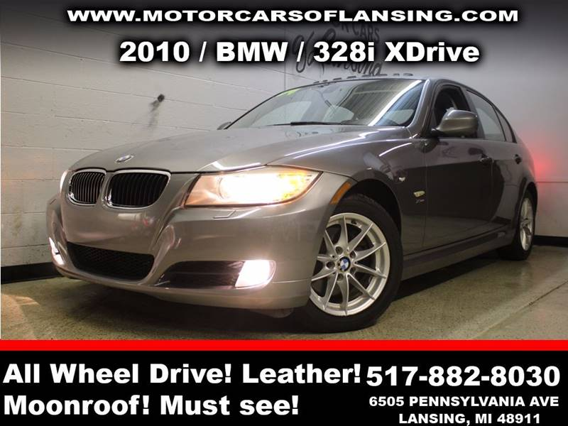 2010 BMW 3 SERIES 328I XDRIVE AWD 4DR SEDAN charcoal sunroof leather wow this vehicle is loaded