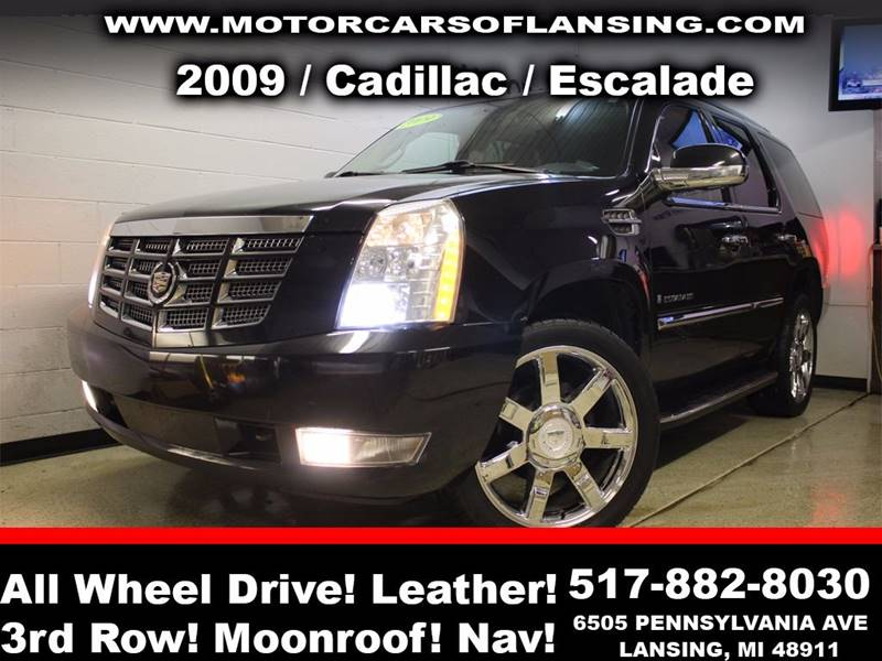 2009 CADILLAC ESCALADE BASE AWD 4DR SUV black sunroof leather wow this vehicle is loaded   all