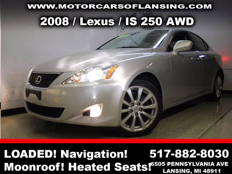2008 LEXUS IS 250 BASE AWD 4DR SEDAN silver sunroof leather wow this vehicle is loaded   all c