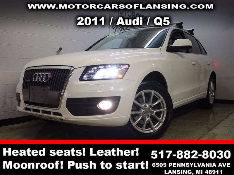 2011 AUDI Q5 20T QUATTRO PREMIUM AWD 4DR SUV white sunroof leather wow this vehicle is loaded
