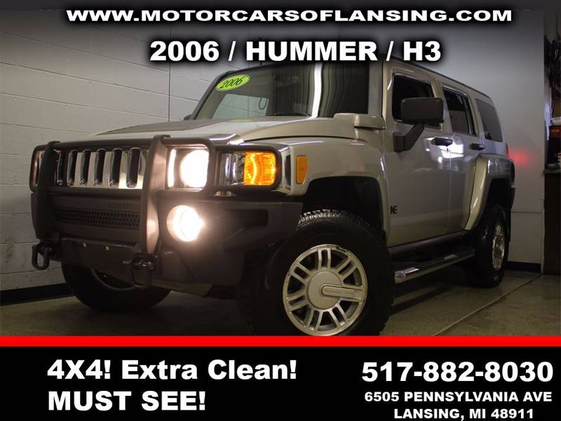 2006 HUMMER H3 BASE 4DR SUV 4WD silver all customers are welcome to perform an inspection on our