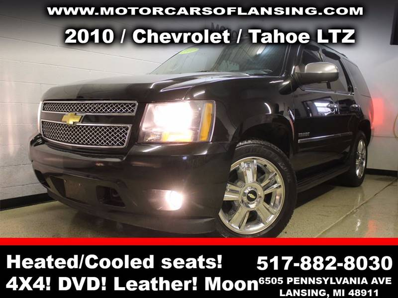 2010 CHEVROLET TAHOE LTZ 4X4 4DR SUV black sunroof leather wow this vehicle is loaded all cust