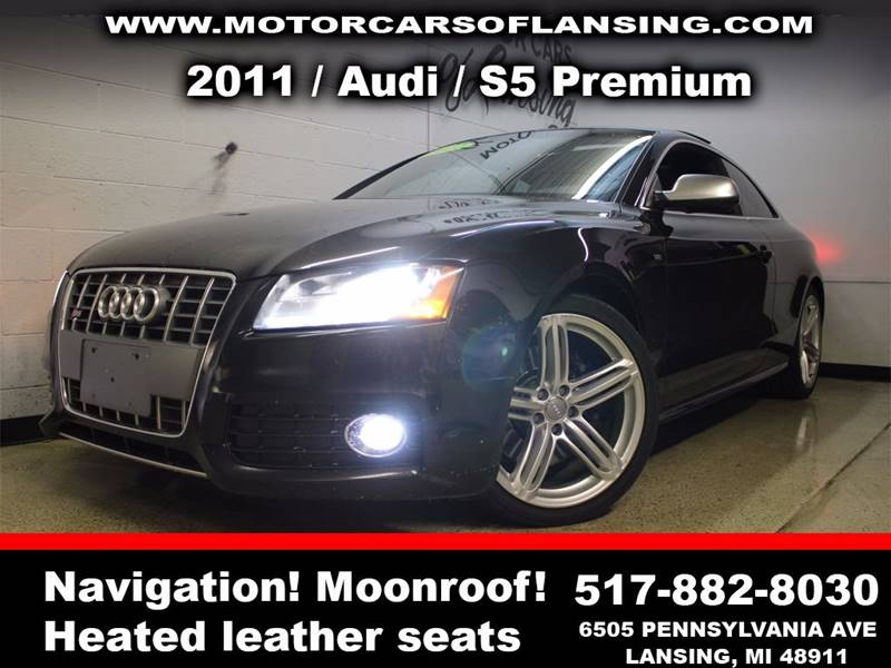 2011 AUDI S5 42 QUATTRO PREMIUM PLUS AWD 2DR black sunroof leather wow this vehicle is loaded