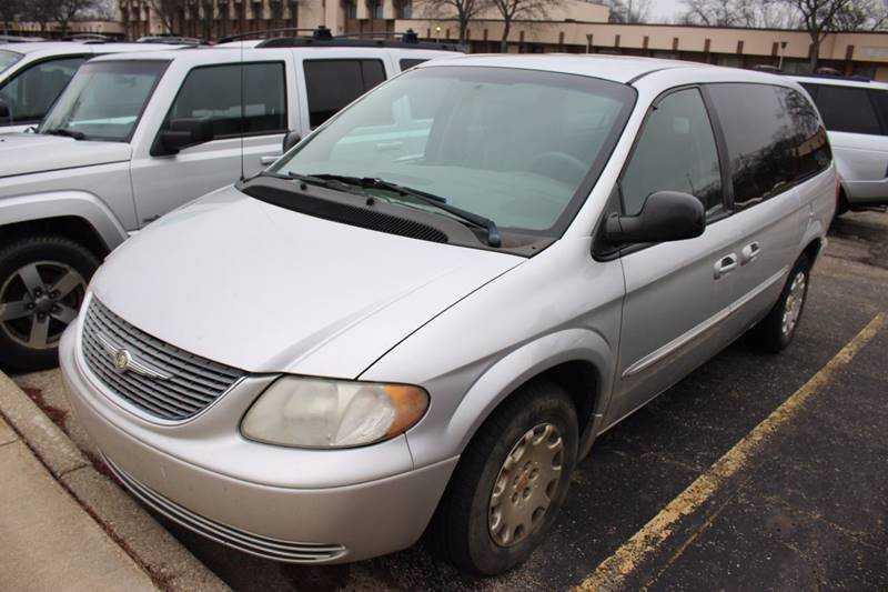 2002 CHRYSLER TOWN AND COUNTRY EL 4DR EXTENDED MINI VAN silver front air conditioning front air