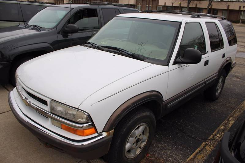 1998 CHEVROLET BLAZER BASE 4DR 4WD SUV white front air conditioning center console power steeri