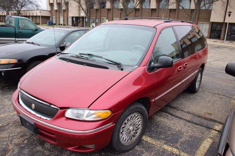 1996 CHRYSLER TOWN AND COUNTRY BASE 3DR EXTENDED MINI VAN burgundy front air conditioning steeri