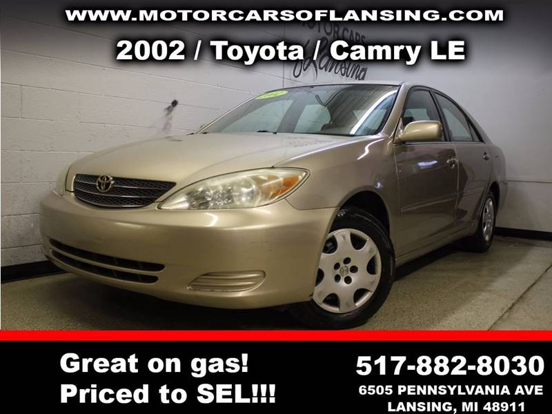 2002 TOYOTA CAMRY LE 4DR SEDAN beige all customers are welcome to perform an inspection on our ve