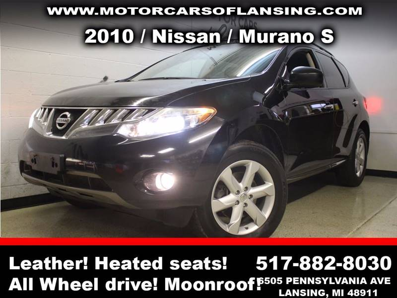 2010 NISSAN MURANO S AWD 4DR SUV black sunroof leather wow this vehicle is loaded   all custom