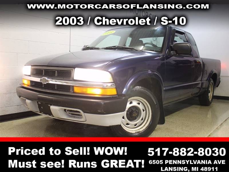 2003 CHEVROLET S-10 LS 3DR EXTENDED CAB RWD SB blue guaranteed credit approval  all customers are