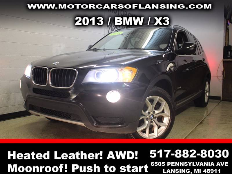 2013 BMW X3 XDRIVE28I AWD 4DR SUV black sunroof leather wow this vehicle is loaded   all custo