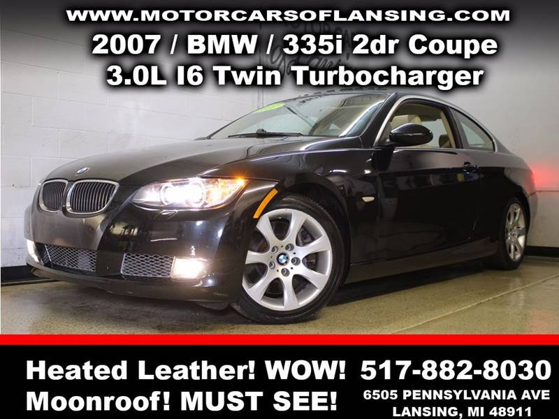 2007 BMW 3 SERIES 335I 2DR COUPE black must see drive comfortably this winter with heated leathe