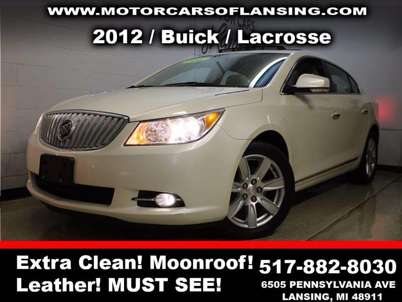 2012 BUICK LACROSSE LEATHER 4DR SEDAN white sunroof leather wow this vehicle is loaded   all c