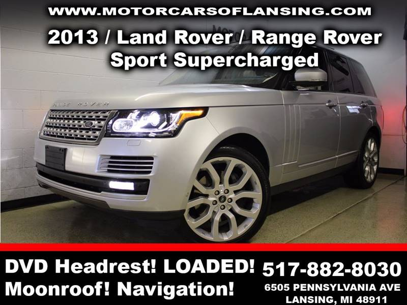 2013 LAND ROVER RANGE ROVER SUPERCHARGED 4X4 4DR SUV silver sunroof leather wow this vehicle is