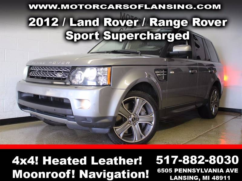 2012 LAND ROVER RANGE ROVER SPORT SUPERCHARGED 4X4 4DR SUV charcoal sunroof leather wow this veh
