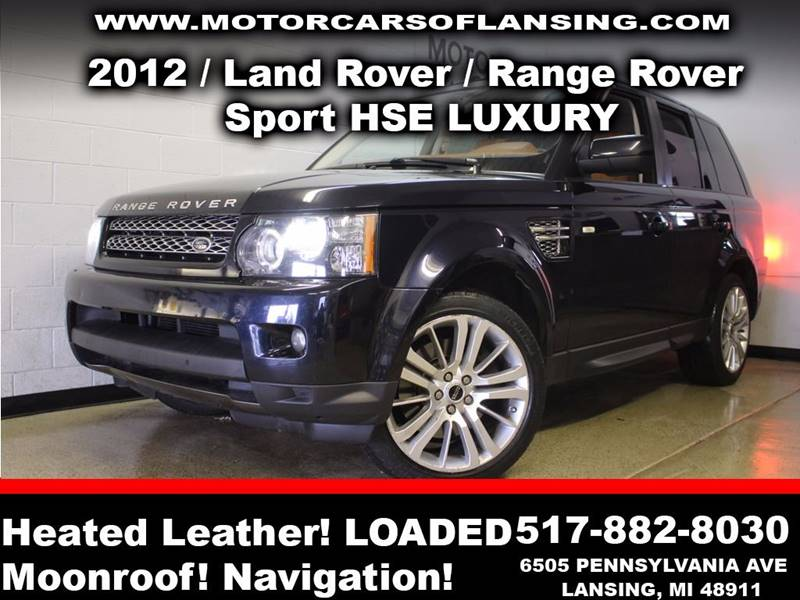 2012 LAND ROVER RANGE ROVER SPORT HSE LUX 4X4 4DR SUV dark midnight blue sunroof leather wow thi