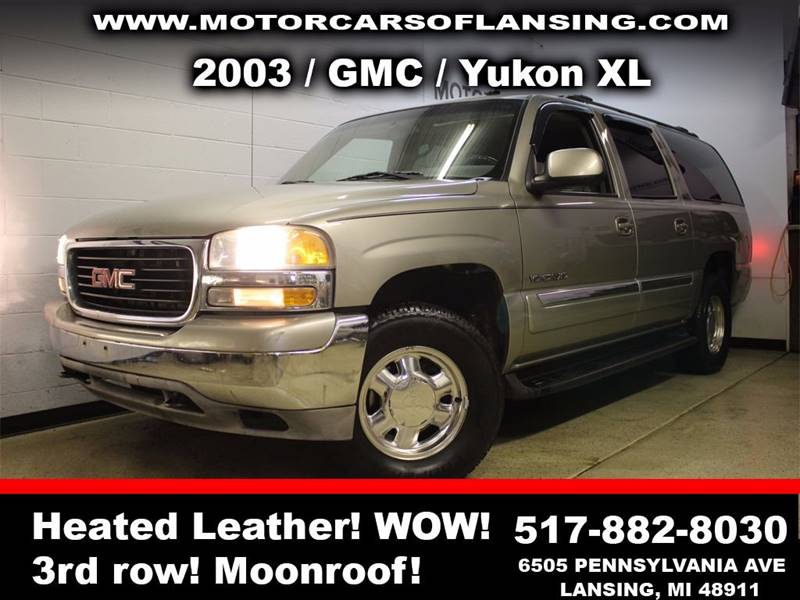 2003 GMC YUKON XL 1500 4DR 4WD SUV pewter sunroof leather wow this vehicle is loaded   all cus