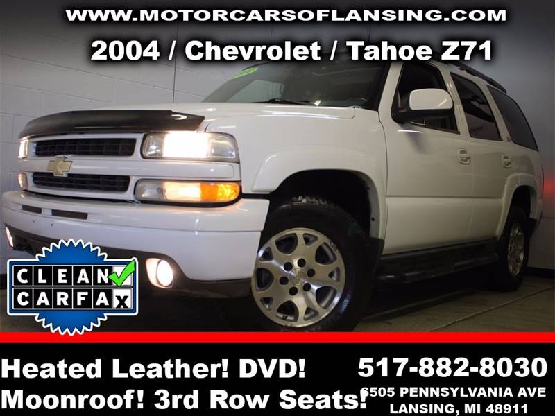 2004 CHEVROLET TAHOE LT 4WD 4DR SUV white rather youre on or off road this vehicle is ready to