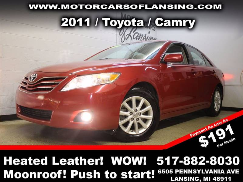 2011 TOYOTA CAMRY BASE 4DR SEDAN 6A red sunroof leather wow this vehicle is loaded   all custo