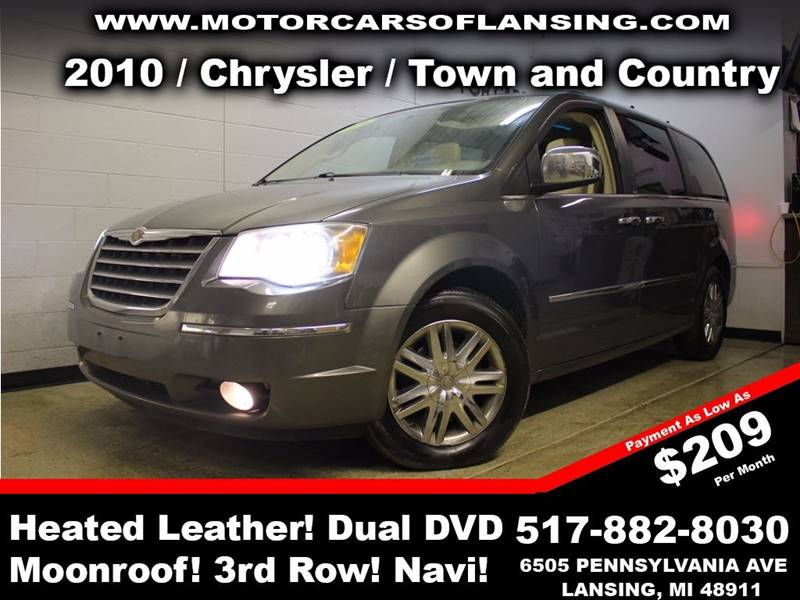 2010 CHRYSLER TOWN AND COUNTRY LIMITED 4DR MINI VAN charcoal sunroof leather wow this vehicle is