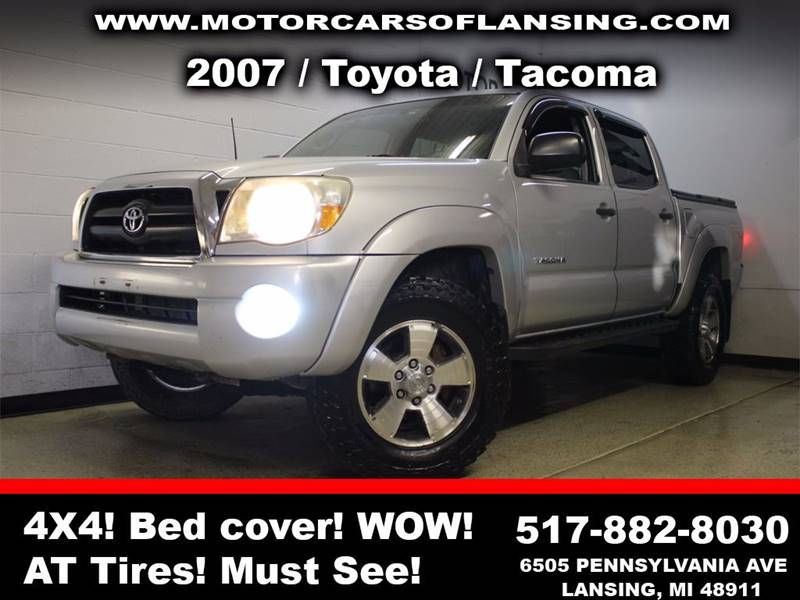 2007 TOYOTA TACOMA V6 4DR DOUBLE CAB 4WD 50 FT SB silver all customers are welcome to perform a