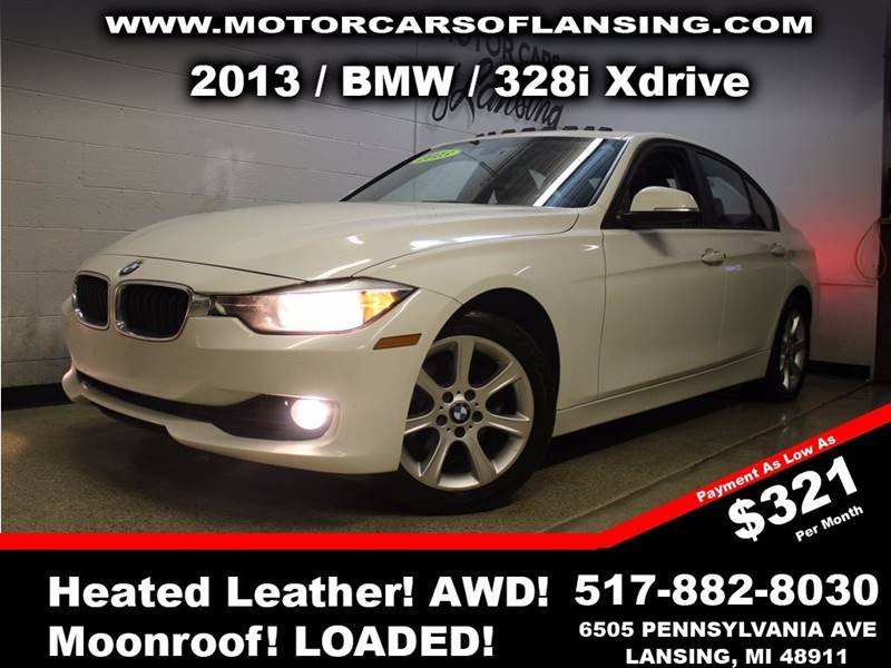 2013 BMW 3 SERIES 328I XDRIVE AWD 4DR SEDAN white sunroof leather wow this vehicle is loaded