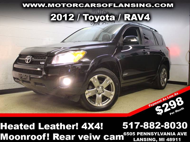2012 TOYOTA RAV4 SPORT 4X4 4DR SUV V6 black sunroof leather wow this vehicle is loaded   all c