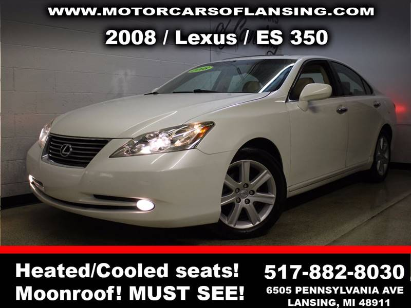 2008 LEXUS ES 350 BASE 4DR SEDAN white sunroof leather wow this vehicle is loaded   guaranteed