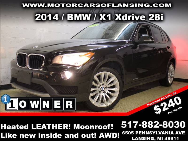 2014 BMW X1 XDRIVE28I AWD 4DR SUV black sunroof leather wow this vehicle is loaded   all custo