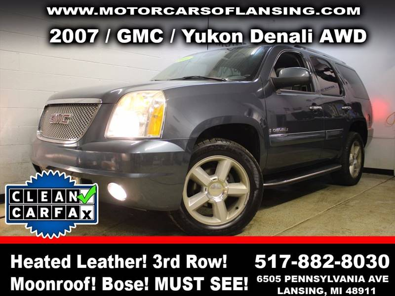 2007 GMC YUKON DENALI AWD 4DR SUV blue this vehicle is ready for the michigan winters with its al