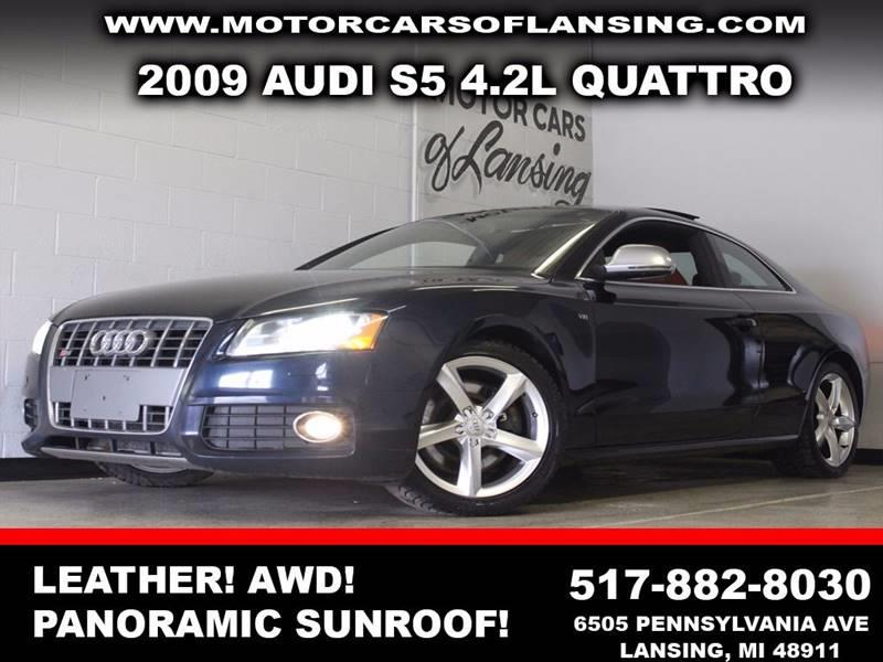 2009 AUDI S5 QUATTRO AWD 2DR COUPE 6A midnight blue awd leather panoramic sunroof rear-view ca
