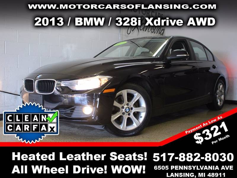 2013 BMW 3 SERIES 328I XDRIVE AWD 4DR SEDAN black this vehicle is ready for the michigan winters