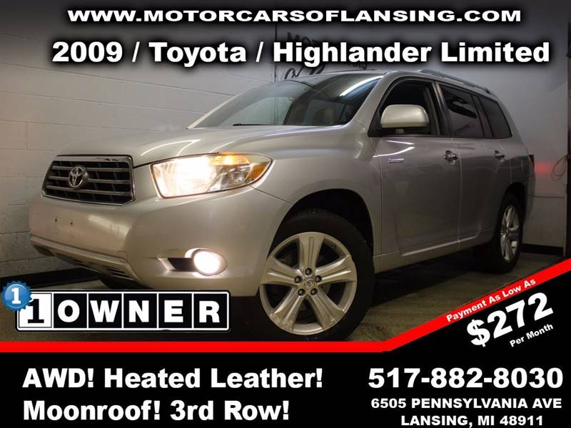 2009 TOYOTA HIGHLANDER LIMITED AWD 4DR SUV silver this vehicle is ready for the michigan winters